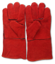 Leather blast gloves, pair
