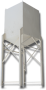 Bulk Storage Hopper, 640 cu. ft. capacity