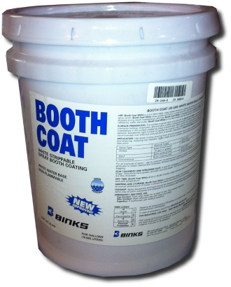 Booth coat, white, 5 gal