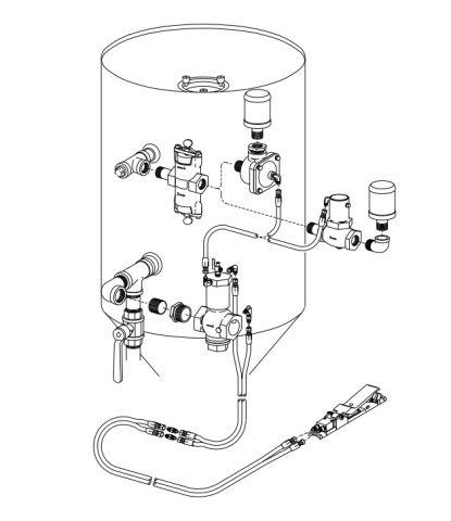 "Remote Control Kit, TLR-100, 1"" w/ piston outlet valve"