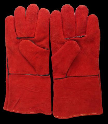 Leather blast gloves, pair