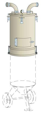 Storage drum, 6 cf cap ELS