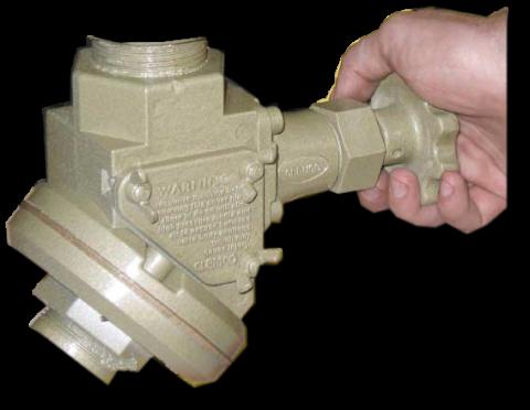 Quantum Abrasive Metering Valve (MQV), manual, w/ fittings