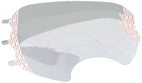 Lens covers, 3M 6000 full face respirators, pkg of 25