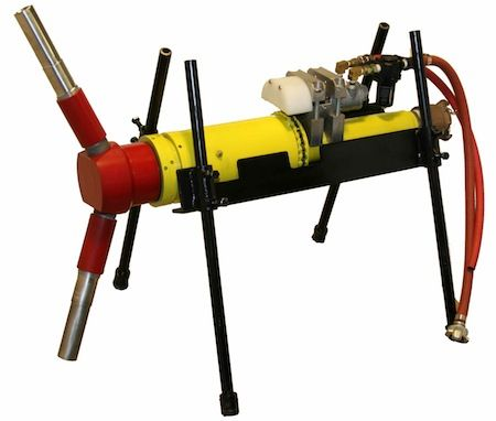 "SpinBlast HD Tool, w/air-motor, for 18"" to 48"" pipe"