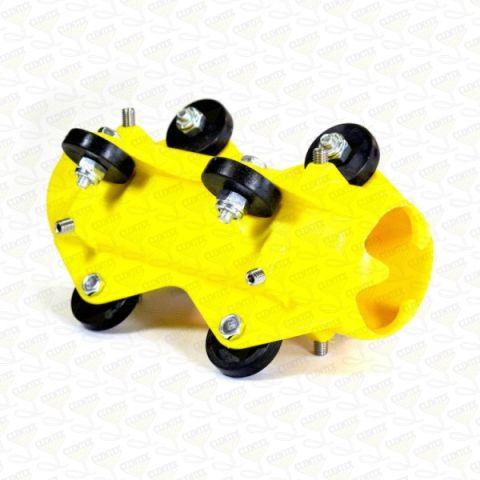 "Mini roller skid, 4-6"" I.D. pipe, w/ collar"