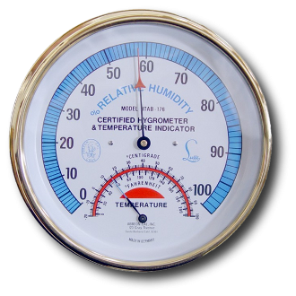 Hygrometer/Temperature Indicator