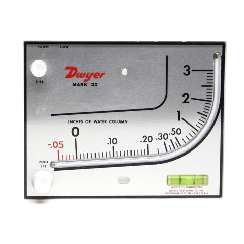 "Manometer, MARK II, -0.05-3""WC"