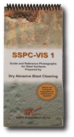 Visual standards, dry abrasive blasting, SSPC