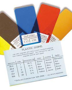 Precision Plastic Shims, Set of 5  (non-certified)