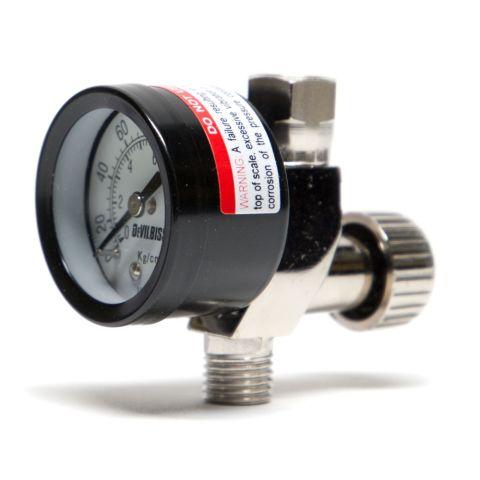 """Air adjusting valve, 1/4"""" NPS w/ gauge"""