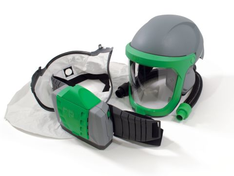 RPB Z-Link Respirator, includes: 16-810 Safety Lens, 16-712 Face Seal Tychem QC, 04-835 Breathing Tube, 03-901 PX4 PAPR