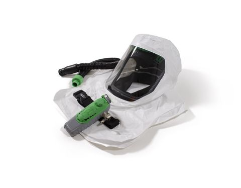 RPB T-Link Respirator, includes: 17-712 Tychem QC Hood, Bump Cap Assembly, 04-830 Breathing Tube, 03-501 C40 Climate Control Device